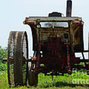 Amish Tractor Art Print