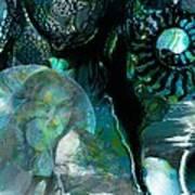 Ammonite Seascape Art Print
