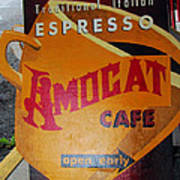 Amocat Cafe Art Print