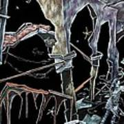 Amore - Dark Fantasy Drawings And Illustration - Dibujo Surrealista  Art Print