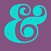 Ampersand Poster Purple and Blue Art Print