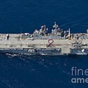 Amphibious Assault Ship Uss Bonhomme Art Print