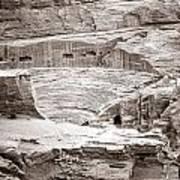 Amphitheater In Petra Art Print