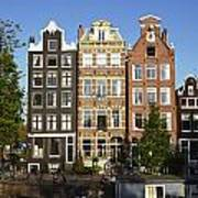 Amsterdam - Old Houses At The Herengracht Art Print