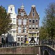 Amsterdam - Old Houses At The Keizersgracht Art Print