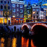 Amsterdam At Night II Art Print