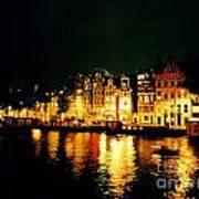 Amsterdam At Night Three Print by John Malone