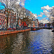 Amsterdam Canal In Spring Art Print