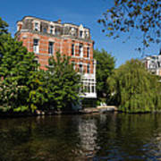Amsterdam Canal Mansions - Floating By Art Print
