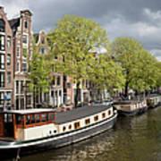 Amsterdam Canal Waterfront Art Print