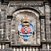 Amsterdam Coat Of Arms On Westerkerk Tower Art Print