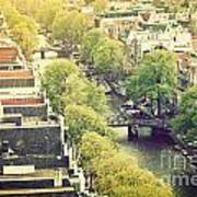Amsterdam Holland Netherlands In Vintage Style Art Print