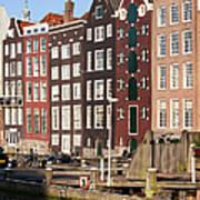 Amsterdam Houses Ar Sunset Art Print