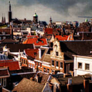 Amsterdam Roofs. View From Metz Cafe Art Print