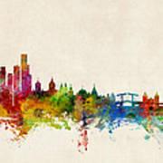 Amsterdam The Netherlands Skyline Art Print