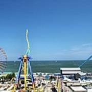 Amusement Park View Art Print