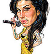 Amy Winehouse Print by Art