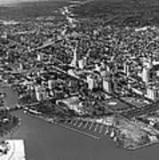 An Aerial View Of Miami Art Print