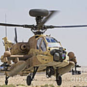 An Ah-64d Saraf Attack Helicopter Art Print