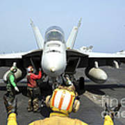 An Aircraft Director Signals Print by Stocktrek Images