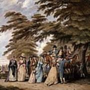 An Airing In Hyde Park, 1796 Art Print