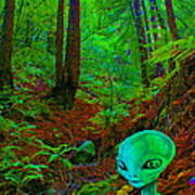 An Alien In A Cosmic Forest Of Time Art Print