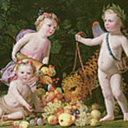 An Allegory Of Peace And Plenty Art Print