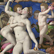 An Allegory With Venus And Cupid Art Print
