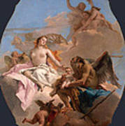 An Allegory With Venus And Time Art Print