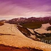 An Alpine Lake Near The Top Of Beartooth Pass  Art Print