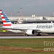 An American Airlines Boeing 767 Art Print
