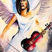 An Angel Performs Art Print