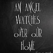 An Angel Watches Over Our Home Art Print
