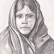 An Apache Daughter Art Print