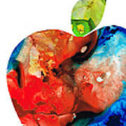 An Apple A Day - Colorful Fruit Art By Sharon Cummings  Art Print by Sharon Cummings
