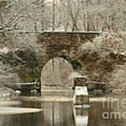 An Arched Stone Bridge Art Print