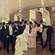 An Argument In The Corridors Of The Opera Art Print