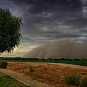 An Arizona Dust Storm  Art Print