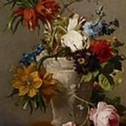 An Arrangement With Flowers Art Print by Georgius Jacobus Johannes van Os