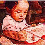 An Artist Is Born Art Print