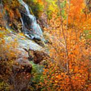An Autumn Falls Art Print