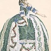 An Elaborate Royal Court Gown, Engraved Art Print