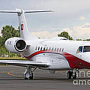 An Embraer Legacy 600 Private Jet Art Print
