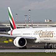 An Emirates Boeing 777 At Milano Art Print