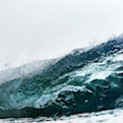 An Empty Wave Breaks Over A Shallow Reef Art Print
