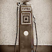 An Esso Petrol Pump From The First Half Art Print