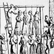An Execution Of Witches In England Art Print
