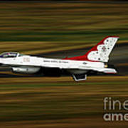 An F-16 Thunderbird Of The U.s. Air Art Print