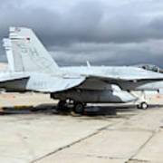 An Fa-18c Hornet On The Ramp At Marine Art Print
