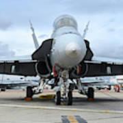 An Fa-18d Hornet On The Ramp At Marine Art Print